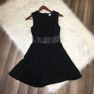 Milly Black Dress \ Lamb leather